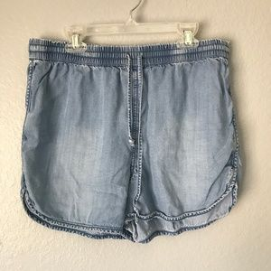 Juicy Couture Chambray Distressed Shorts Size M